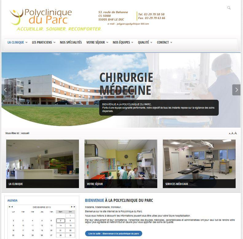 Site internet de la polyclinique du parc à Bar-le-Duc