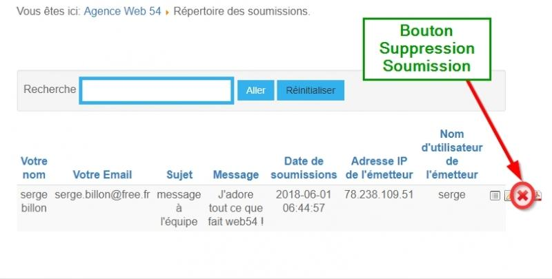 bouton suppression RGPD